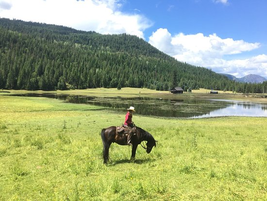 On an all day ride...with views!  Bull Hill Ranch, Kettle Falls, WA