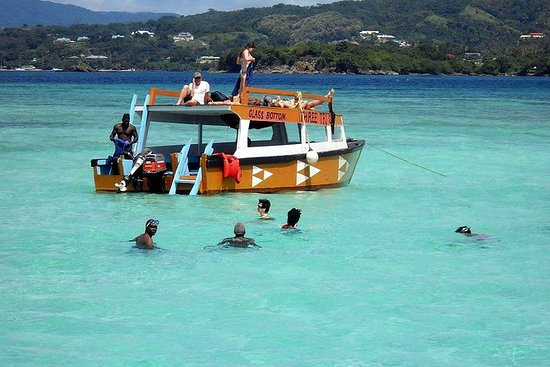Excursion en bateau à fond de verre...