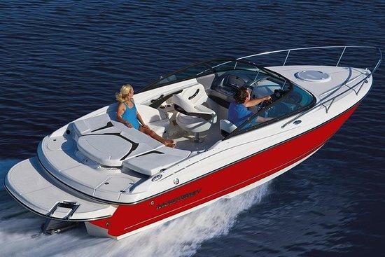 Viagem de barco a motor de luxo...