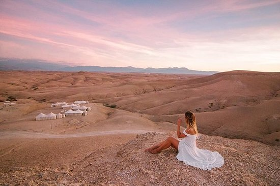Agafay Desert & Atlas Mountains Day Trip with Camel Ride From Marrakesh: Agafay desert & Atlas Mountains and Camel Ride Day Trip From Marrakech