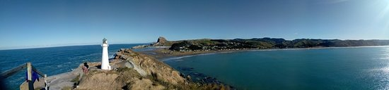 Castlepoint, Nowa Zelandia: Panaromic view of the lighthouse