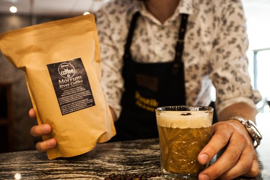 Cocktails on locally roasted coffee