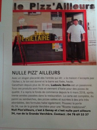 Genay, Francia: Nulle Pizz'ailleurs
