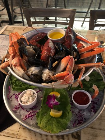 Seafood tower for two. In this case, for one. I was hungry!