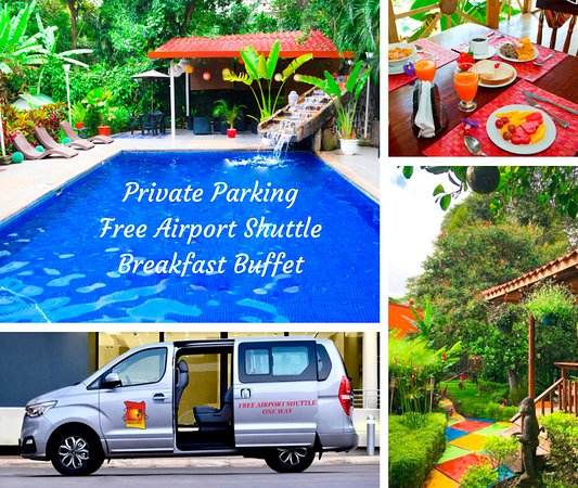 san jose costa rica hotels with free airport shuttle