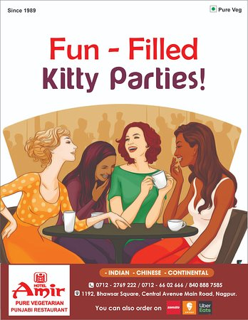 Have loads of fun and frolic as we host your kitty parties! Avail special offers, designed specifically for parties & get - togethers! Call 9823360666 to enquire & book your slot now! #Awesometime #HaveaBlast #Deliciouspurevegfood #Goforit