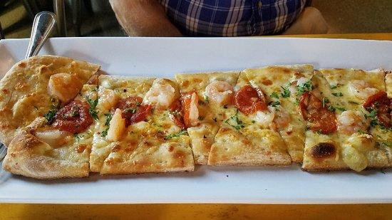 Victoria, MN : Shrimp Scampi flat bread
