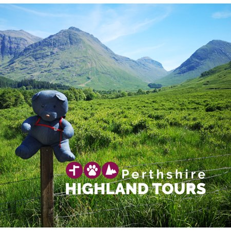 Dunkeld, UK: Highland Bear loves visiting the majestic landscape of Glen Coe.  It's a firm favourite for visitors to Scotland.