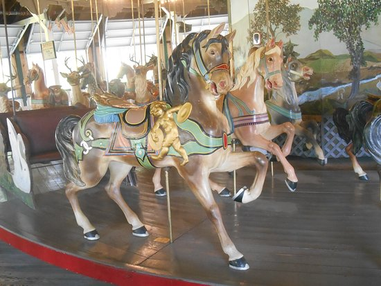 Pen Argyl, PA: These horses have a specific look that suggests they may have been among those made in 1917.  This carousel has a mixture of animals from the 1890's, 1905 and 1917.  It was assembled and sent to Weona Park in 1923.