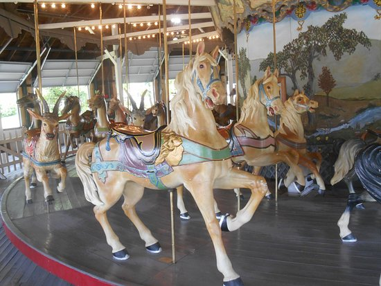 Pen Argyl, PA: Still more horses with a newer look on the Weona Park carousel.