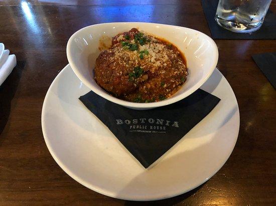 Antipasto: Fork tender meatballs