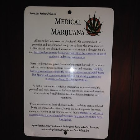 No WEED policy. Please read it!