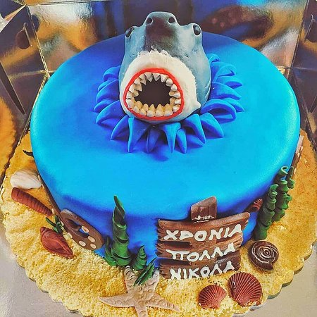 Peachy Beware Of The Shark Underwater Shark Birthday Cake Funny Birthday Cards Online Fluifree Goldxyz