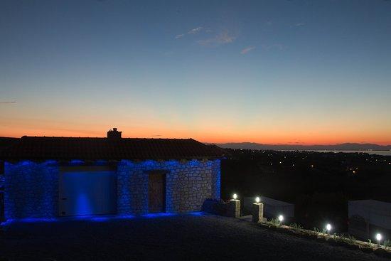 sunset at Domaine Florian