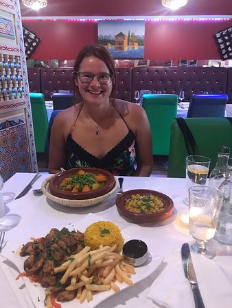 Marrakech Salisbury: Chicken Shawarma and vegetable tajine with couscous