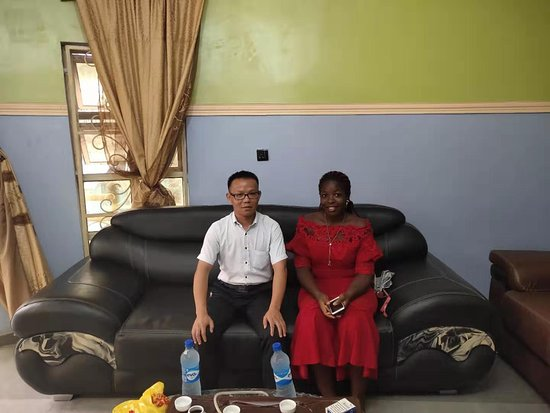 Onitsha, نيجيريا: With our friend in Onitsha of Nigeria