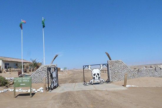 Парк Берег скелетов, Намибия: Check point all'ingresso della Skeleton coast