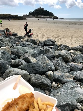 The Tudor Chippy: cod and chips on the beach