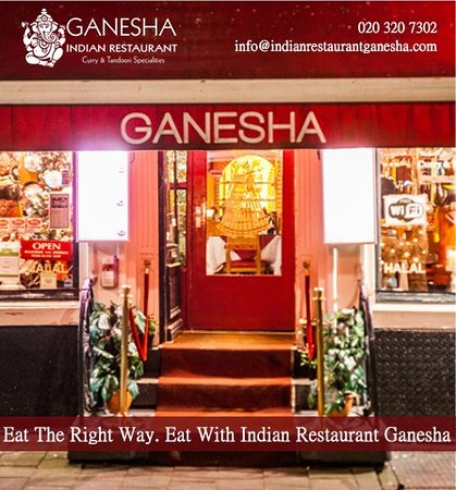Eat The Right Way. Eat With Indian Restaurant Ganesha