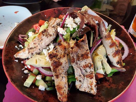 Suburban Diner: Mediterranean Salad with Grilled Chicken