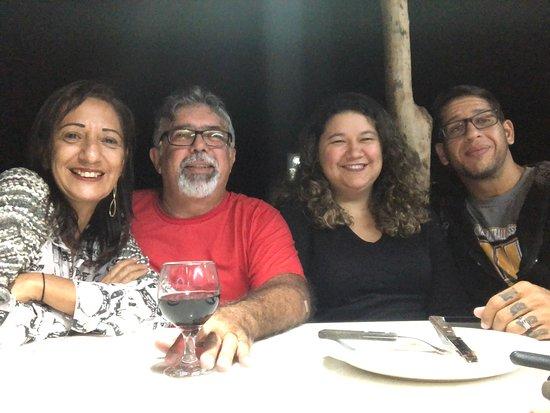 Monte das Gameleiras, RN: Eu, minha esposa, meu filho e minha nora