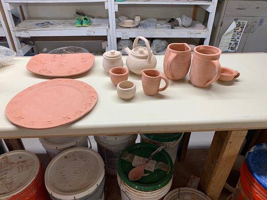 Saranac Lake, NY: Our pottery