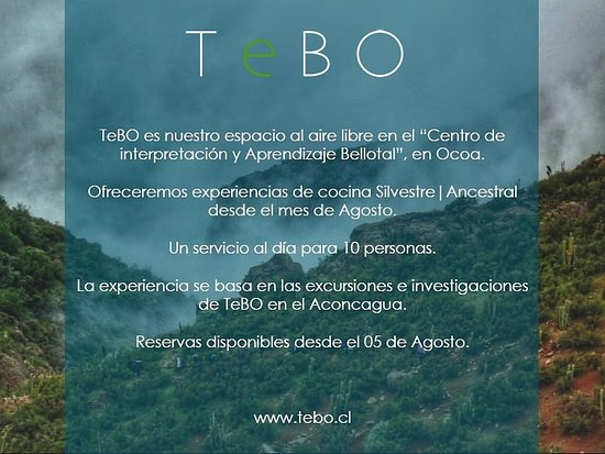 La Campana, Chili : UN SERVICIO AL DÍA (Mie | Jue | Vie) Abierto: 12:30PM || 5.30PM Reservas: reservas@tebo.cl @enlacetebo @tebo.chocolateria @ordenesfernandez
