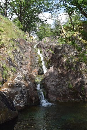 Waterfall on trail to Dinas Emrys