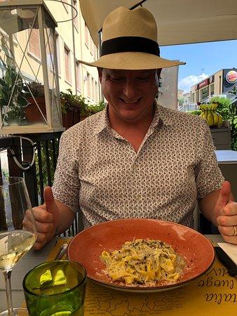 Enjoyed amazing crudi, pasta & wine on the terrace