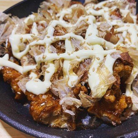 Mayo Pop (Boneless deep fried Korean Chicken with Teriyaki sauce, Mayonnaise and Katsuo Bushi)