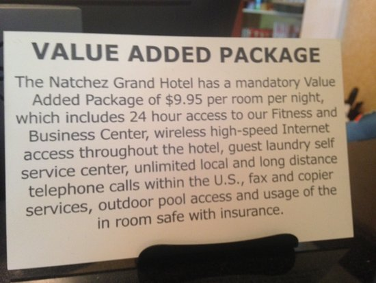 """...but they charge you for """"other"""" stuff!"""