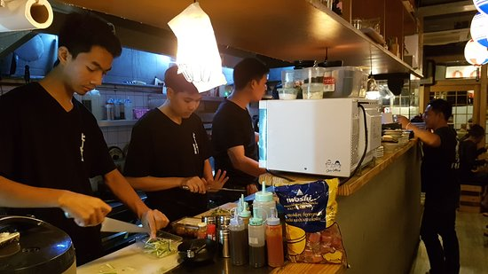 Hero Sushi Chefs and Kitchen Area