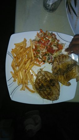 Our seafood grilled...