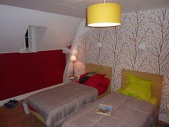 Saint-Quentin-sur-Indrois, فرنسا: Une des chambres