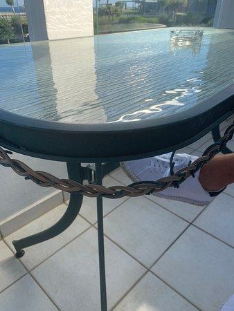 broken outside table