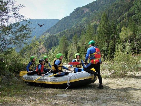 Huben, Austria: ready for a family rafting trip.