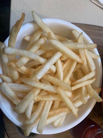 Vegan Nourish Bowl and fries