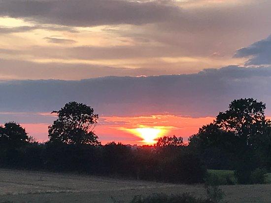 Sarthe, Francie: Evening views