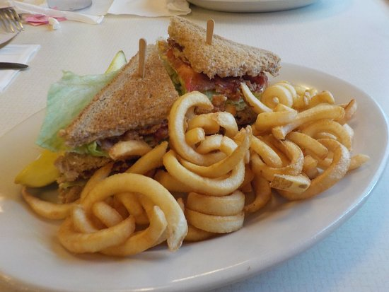 Marilla, État de New York : Half of a club sandwich with fries!!!!!