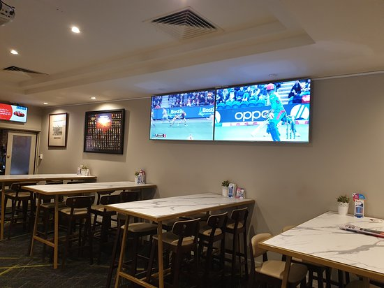 Our new furniture in the main bar looks like a great place to watch all the action!