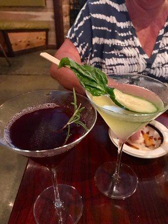 Pomegranate Martini and Hendricks Gin Cucumber Martini