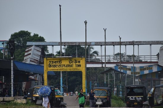 This is an image of Jorhat Town Railway Station. Jorhat Railway Station is a main railway station in Jorhat district, Assam. Its code is JTTN and it serves Jorhat city. The station consists of two platforms.