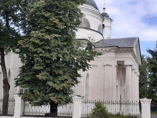 Fryanovo, Russie : Храм Иоанна Предтечи - Фряново. Вид от забора.