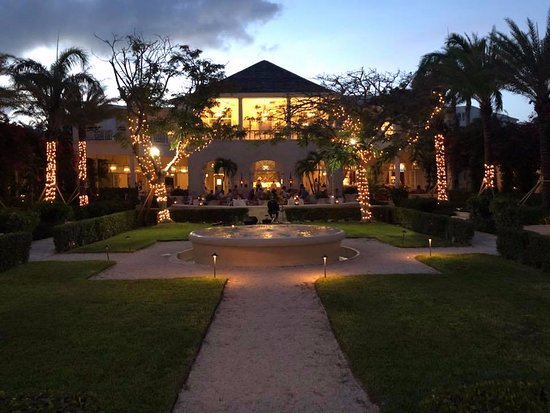 Front of hotel - view from lobby