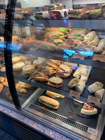 Lunch options - photo taken around 11am.