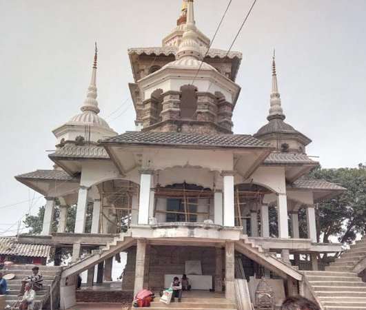 Saharsa, Indie: outlook of maa bishahra temple