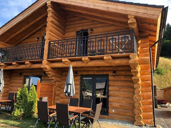 Jenig, Austria: Mooi buitenterras met comfortable verstelbare stoelen