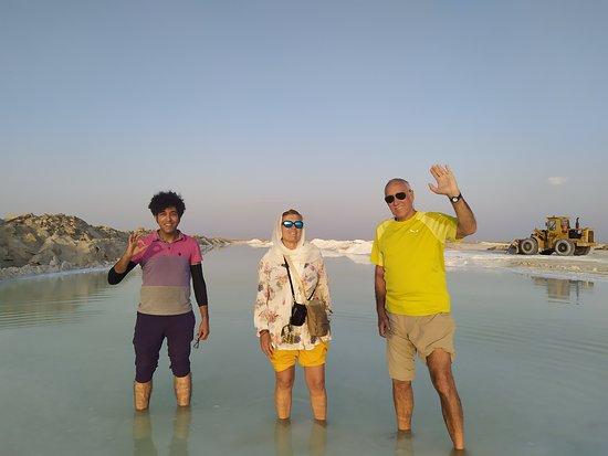 Varzaneh, Iran: walk-on, and wade in the salt lake.