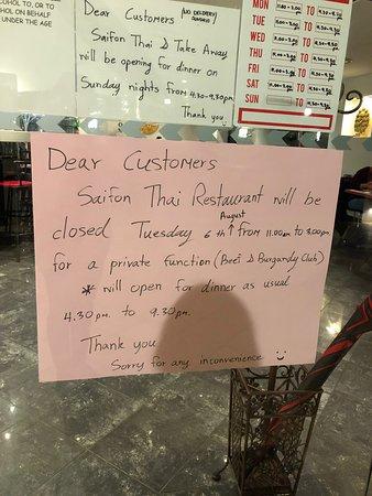 Saifon Thai Restaurant & Take Away