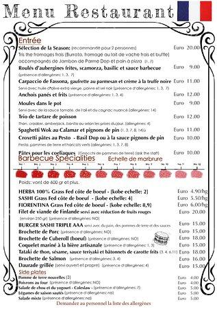 Tiflis Braceria Pizzeria: Menu Français Aout 2019 Ristorante genova, dehor
